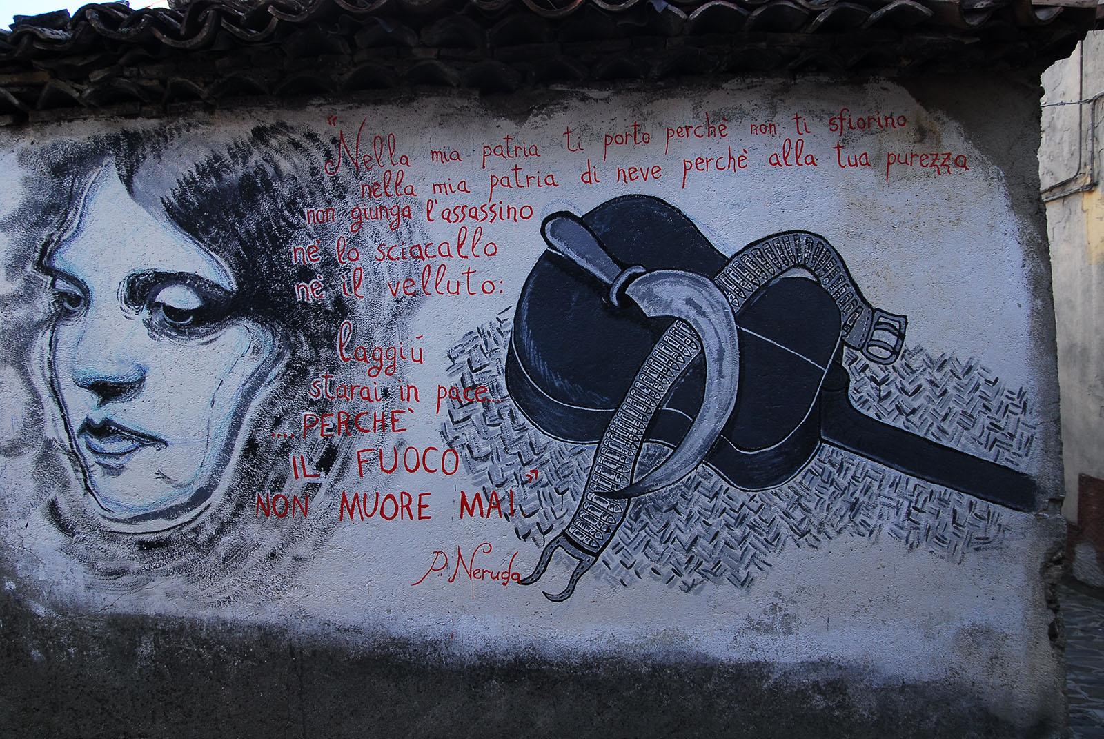 Alessandria del Carretto: murales