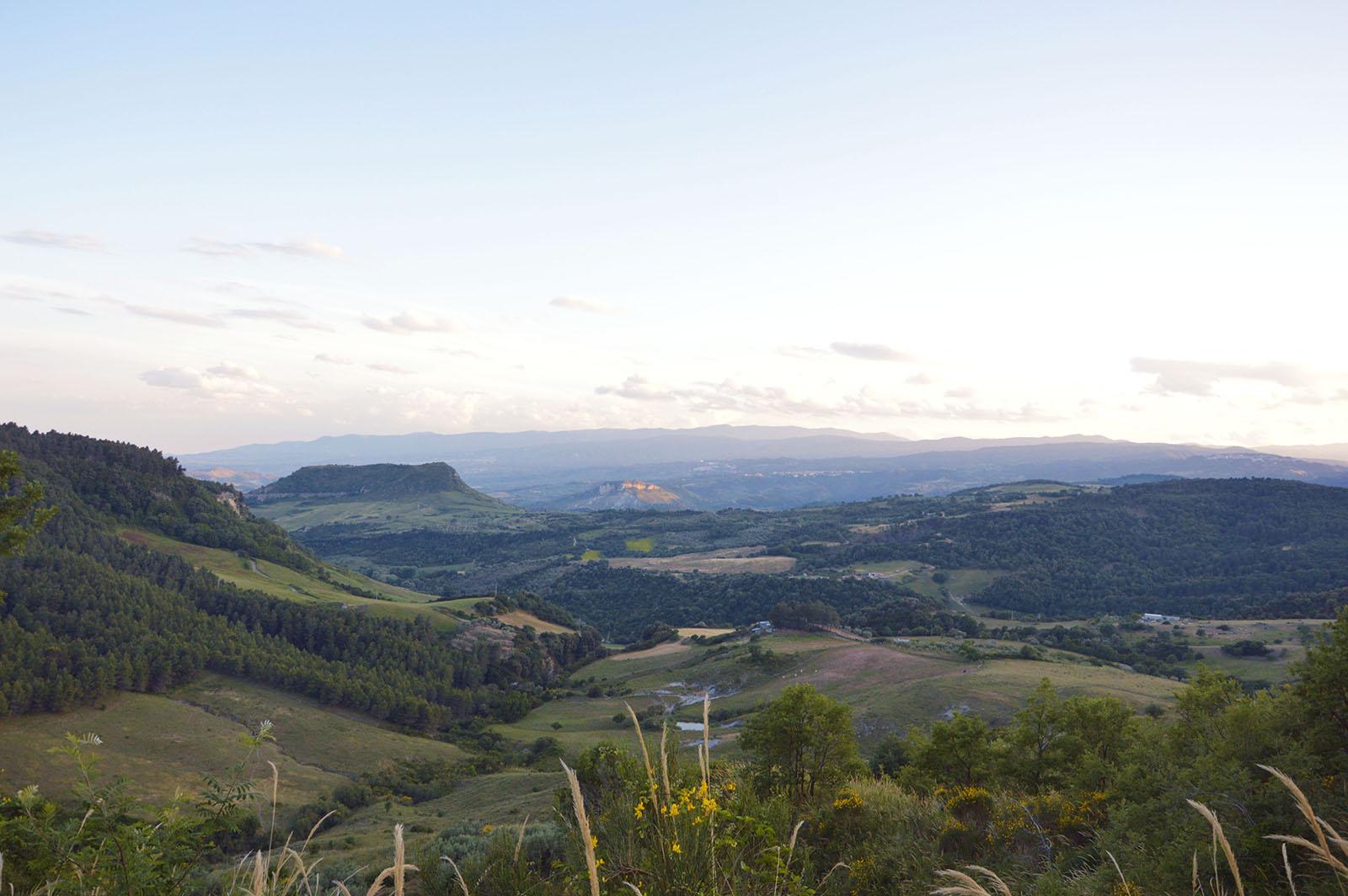 Cammino Basiliano: punto panoramico Cerenzia vecchio spartia