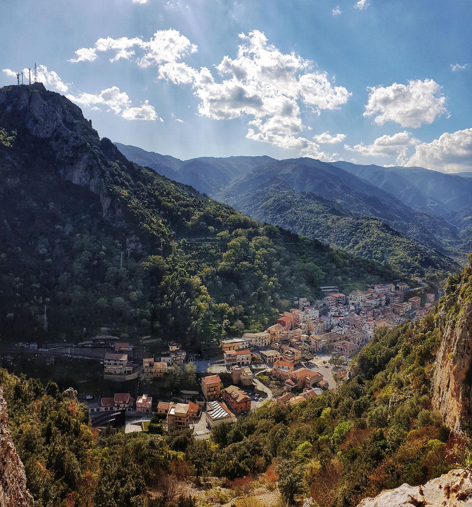 Pazzano visto dal Monte Consolino