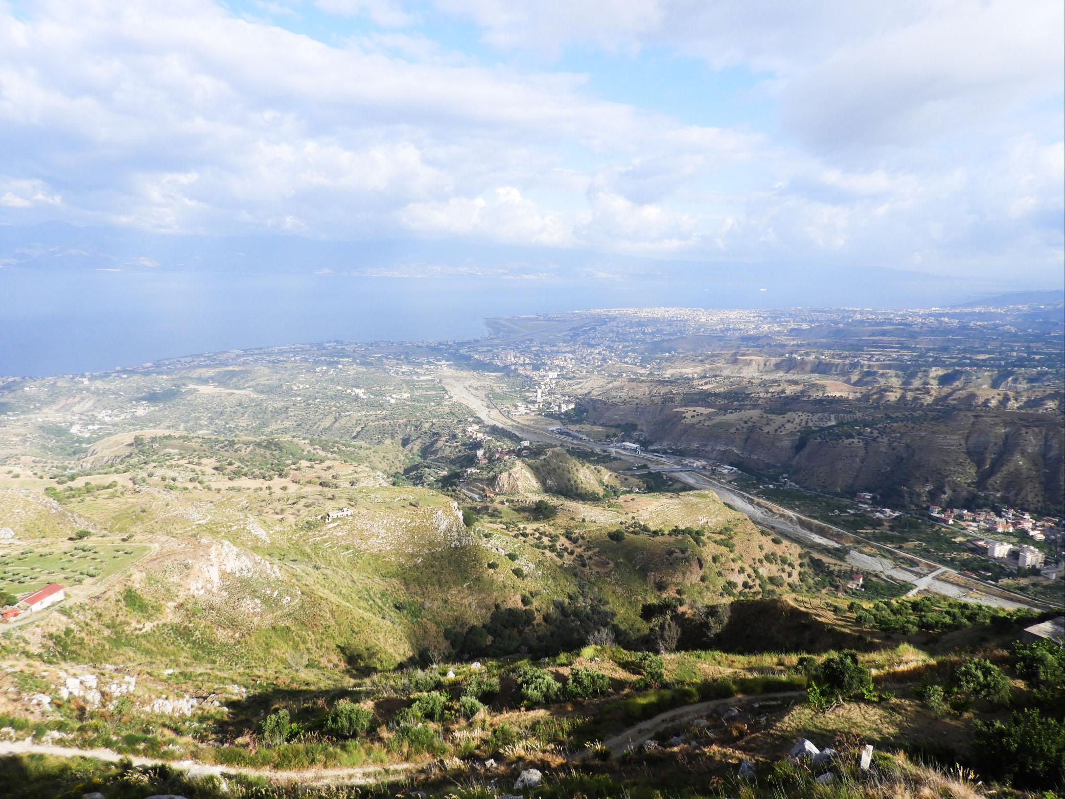 Vista della città di Reggio Calabria