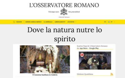L'Osservatore Romano: Dove la natura nutre lo spirito
