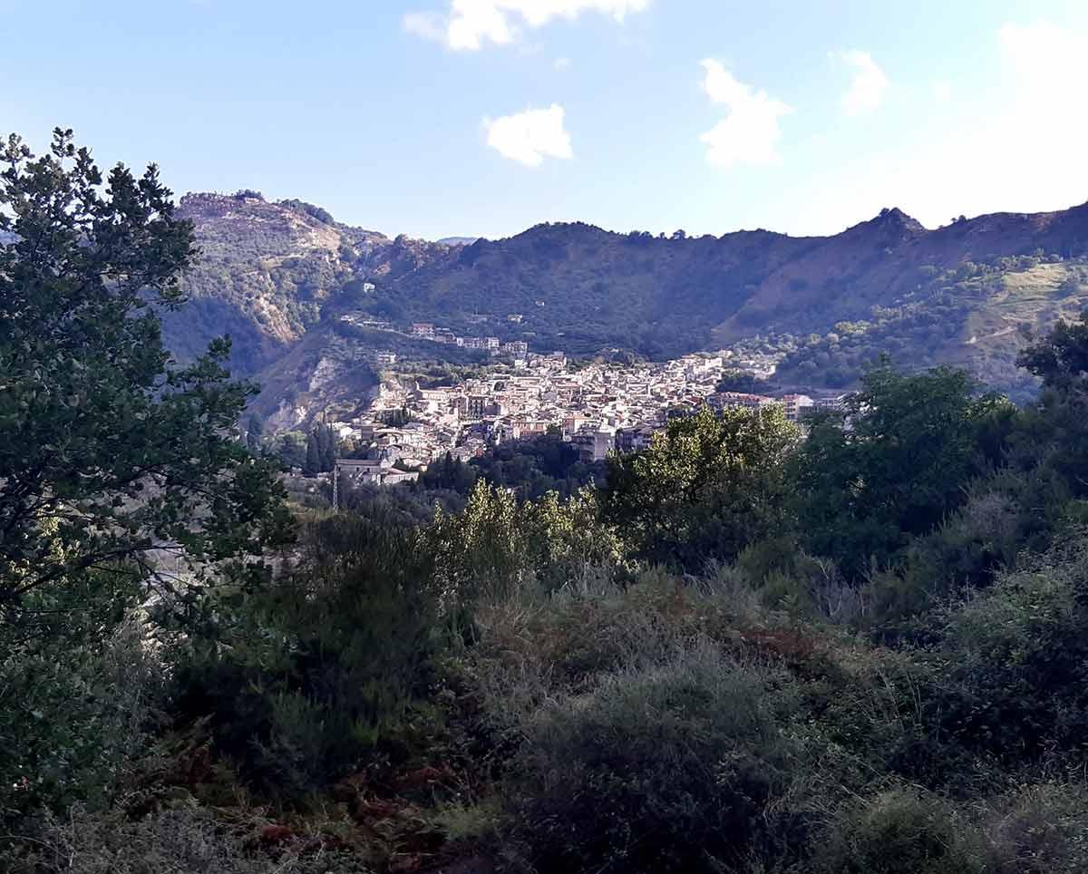 Cammino Basiliano: vista panoramica su Mammola