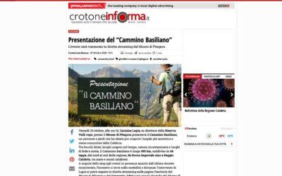 """Crotone Informa: Presentazione del """"Cammino Basiliano"""""""