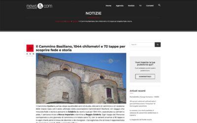News&Com: Il Cammino Basiliano, 1044 chilometri e 72 tappe per scoprire fede e storia