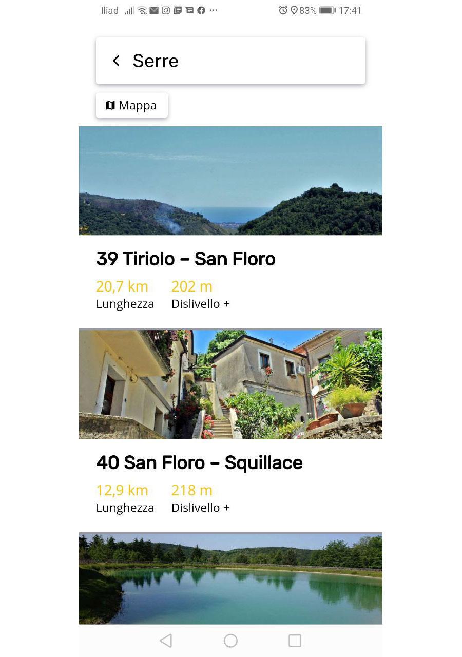 App Cammino Basiliano: Area Serre