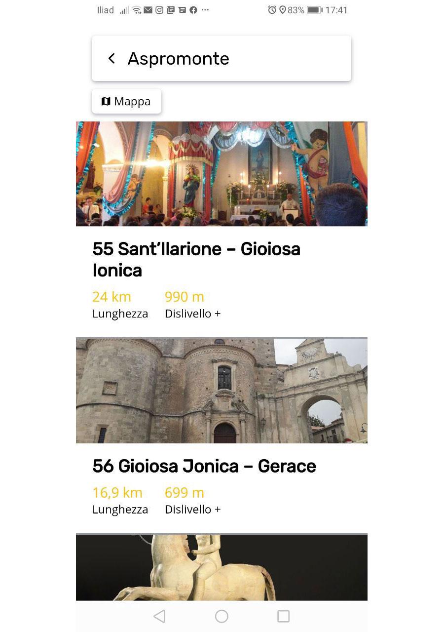 App Cammino Basiliano: Area Aspromonte