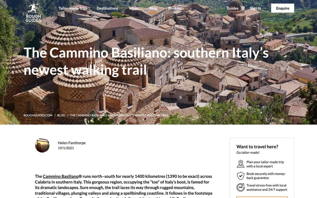 Rough Guides: The Cammino Basiliano: southern Italy's newest walking trail