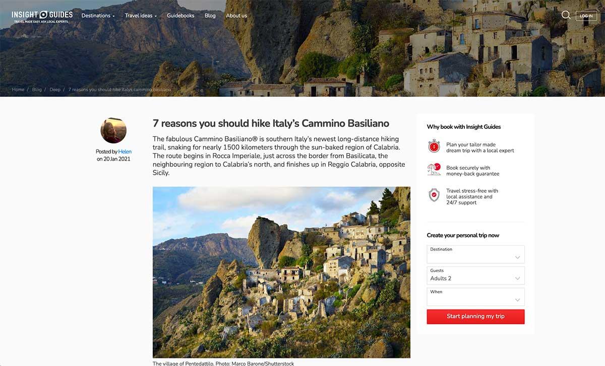 Insight Guides: 7 reasons you should hike Italy's Cammino Basiliano