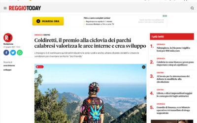 Reggiotoday: Coldiretti, il premio alla ciclovia dei parchi calabresi